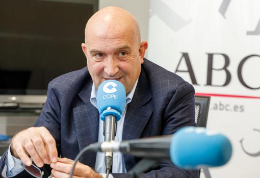 Jesús Julio Carnero, durante la tertulia Cope-ABC