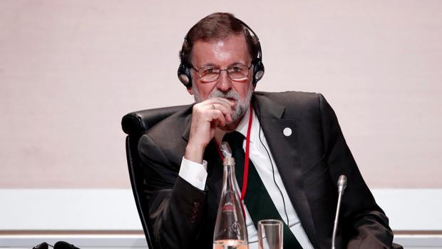 El presidente del Gobierno, Mariano Rajoy, en la cumbre de París sobre el clima