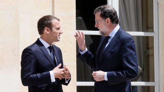 Emmanuel Macron y Mariano Rajoy, en una imagen del pasado verano