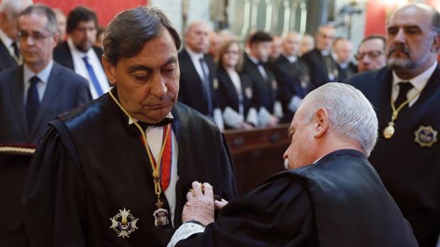 Sánchez Melgar, durante su toma de posesión en el Tribunal Supremo
