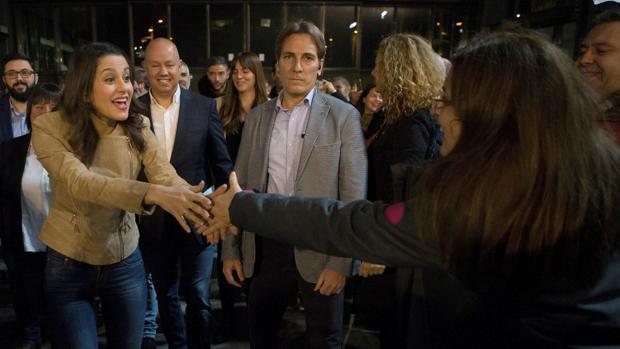 Inés Arrimadas ayer en un acto en Sabadell