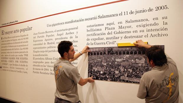 Exposición sobre el traslado de los papeles a Cataluña