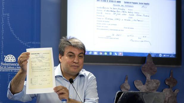 El investigador Policarpo Sánchez, en una imagen de archivo
