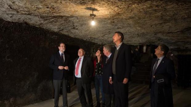 Rajoy visitó el miércoles las bodegas Freixenet