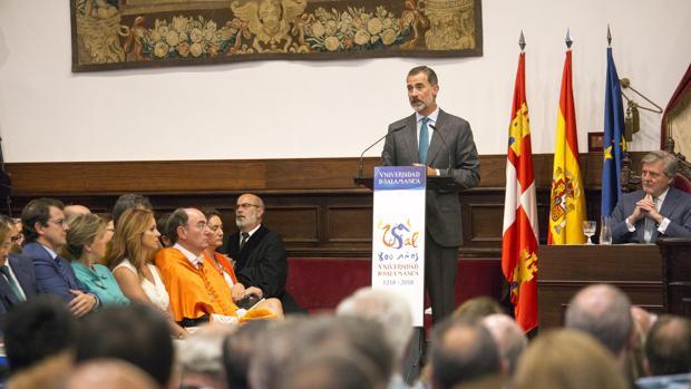 La última visita del Rey a Salamanca fue el pasado septiembre, durante la inauguración del curso en la Usal