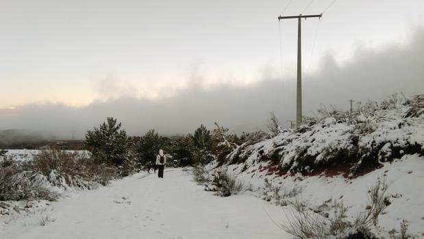 Nieve en El Bierzo (León) en una imagen de archivo