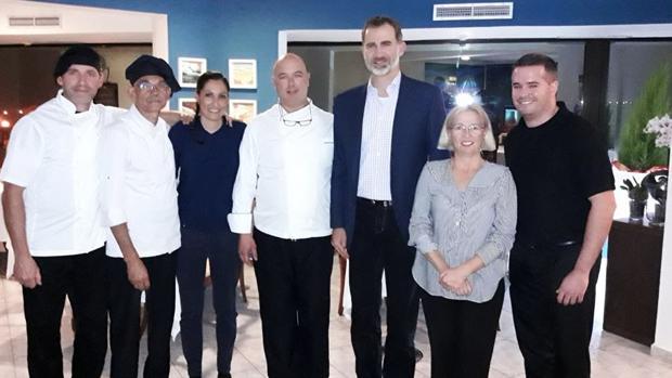 Don Felipe en el Restaurante Nelson, Arinaga