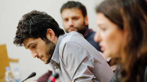 Antonio Estañ, junto a Fabiola Meco y César Jiménez