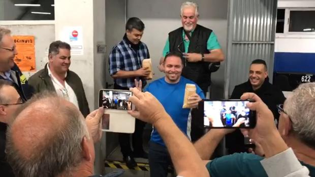 Acto de Intersindical Canaria en Guaguas Municipales por la crisis de Ralons