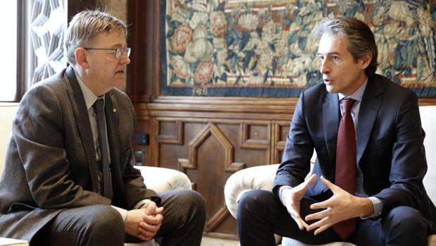 Puig y De la Serna, durante una reunión en Valencia