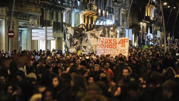 Una manifestación en defensa de los acusados por el 4-F