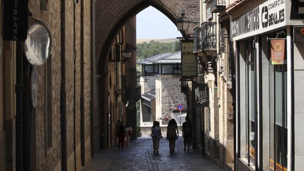 Vista de una calle del monumental casco antiguo de Teruel capital