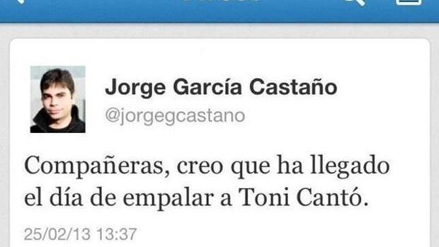 Jorge García Castaño acumula varias polémicas en Twitter