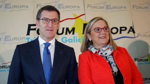 Núñez Feijóo, esta mañana junto a la secretaria de Estado Irene Garrido