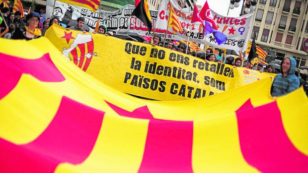 Imagen de una manifestación independentista celebrada en Valencia