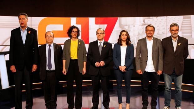 Imagen del último debate ayer en TV3