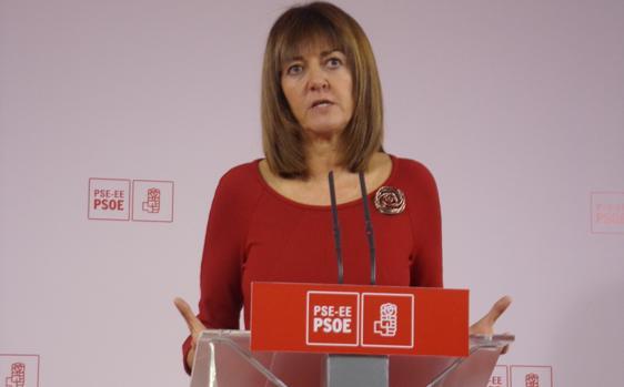 La secretaria general del PSE, Idoia Mendía