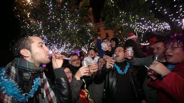 Una fiesta de celebración del Fin de Año