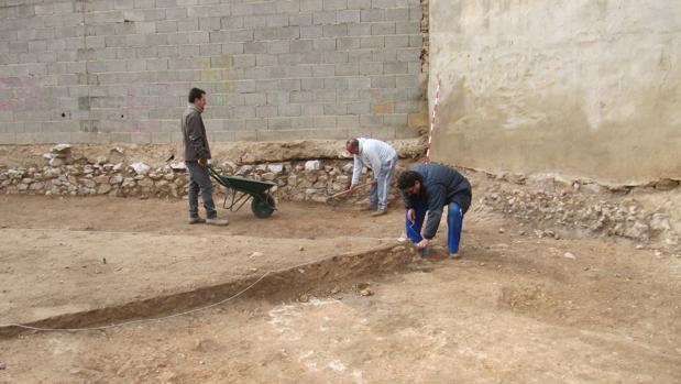 Trabajos de excavación en la zona del circo
