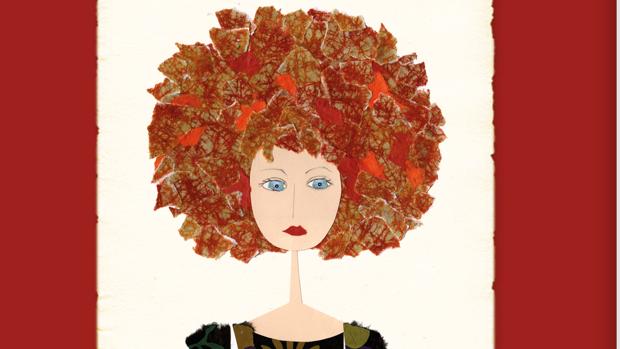 Violeta Monreal ilustra el cuento «La mujer del pelo rojo» sobre la vida de Amelia Moreno