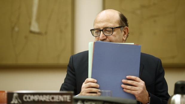 Ramón Álvarez de Miranda, presidente del Tribunal de Cuentas, en una comparecencia en el Congreso