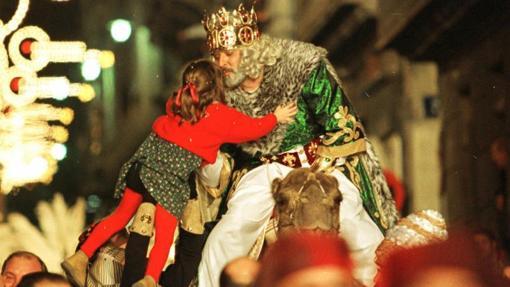 Un momento de la Cabalgata de los Reyes Magos en Alcoy