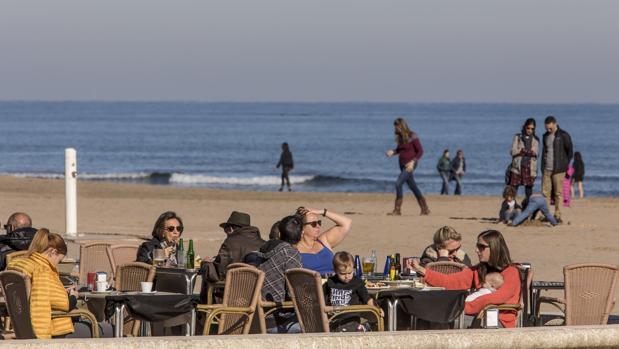Imagen tomada en el paseo marítimo de Valencia
