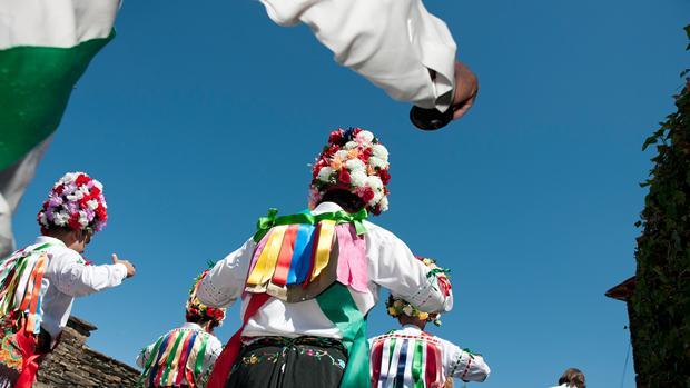 Imagen de la Botarga de la Fiesta del Santo Niño Perdido en Valdenuño Fernández