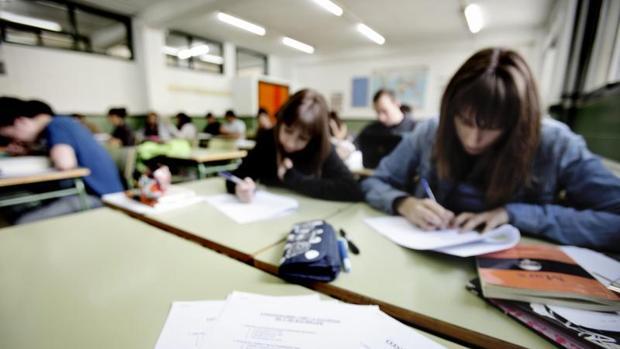Estudiantes de Secundaria en un instituto valenciano