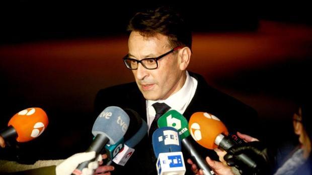 José Ramón Sierra, el abogado de Abuín, tras la visita efectuada este lunes a su cliente en la prisión de Teixeiro