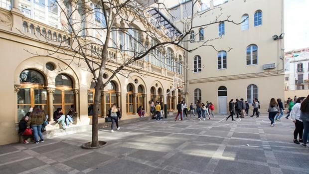 Detalle del centro de Gràcia en el que trabajaba el profesor