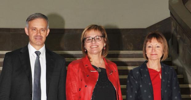 Imagen de los tres candidatos