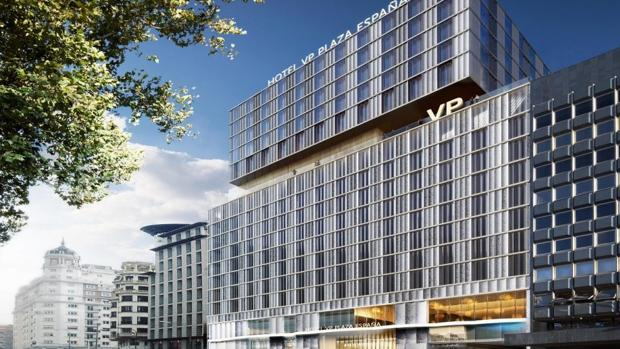 Fachada del hotel VP Plaza España Design