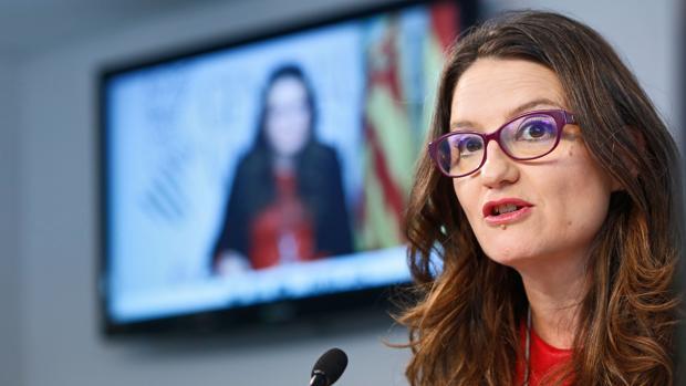 Mónica Oltra, durante la rueda de prensa posterior al pleno del Consell este viernes
