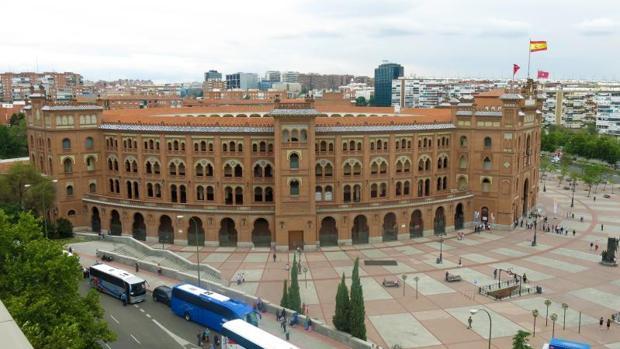 Vista panorámica de la plaza de toros de Las Ventas