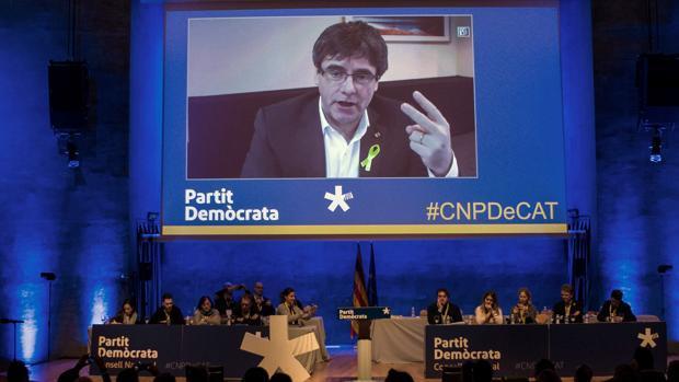 Puigdemont, ayer durante el congreso del PDECat