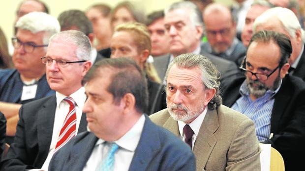 Francisco Correa y Pablo Crespo, duran el juicio de Gürtel en octubre de 2016