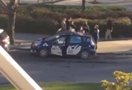 La imagen de la detención del pasado jueves también circulaba entre los chats de las alumnas