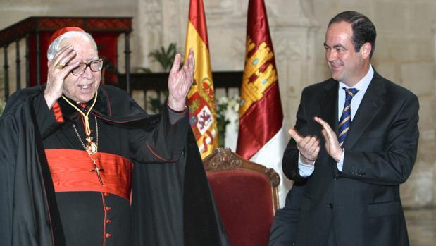 El cardenal Marcelo junto a José Bono