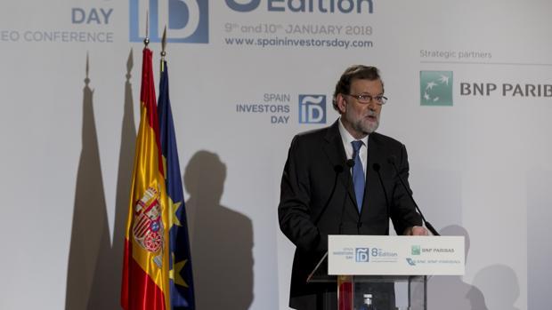 Mariano Rajoy, el pasado martes en el Spain Investors Day, en el Hotel Ritz de Madrid