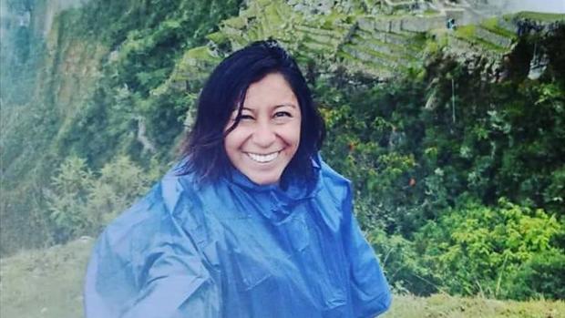 Nathaly Salazar, durante su viaje a Perú