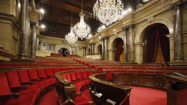 Vista del hemiciclo del Parlamento catalán