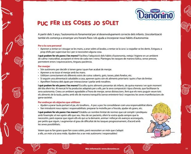 Imagen de una de las páginas de la guía con el patrocinio de Danionino