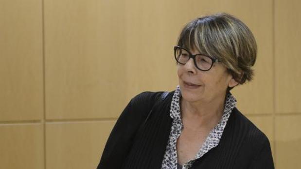 Inés Sabanés, en rueda de prensa en el Palacio de Cibeles