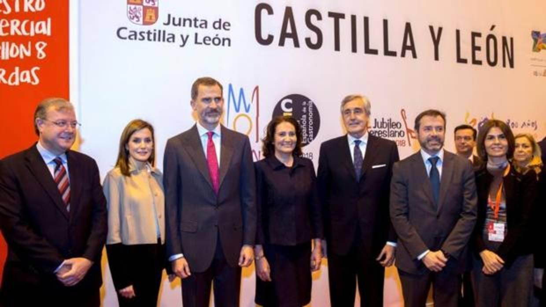 Los Reyes se interesan por la Capitalidad Gastronómica de León y la USAL