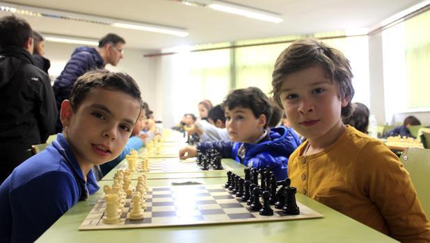 Se han celebrado tres categorías del campeonato de Ajedrez. En la imagen, los más pequeños