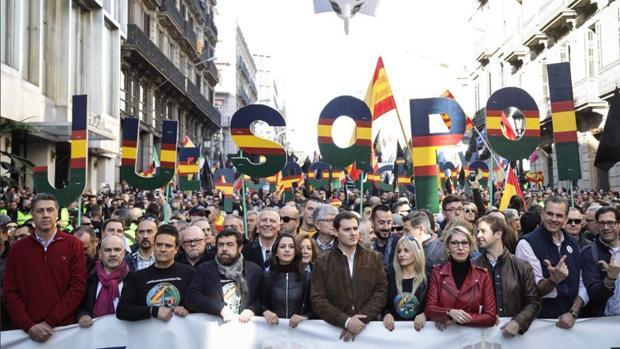 Xavier García Albiol, Inés Arrimadas y Albert Rivera han acompañado a los agentes