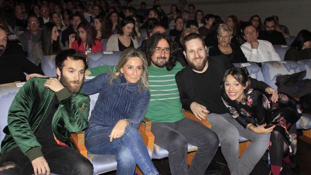 Ricardo Gómez, Milagros Tolón, Diego Mejías, Enrique Muñoz y Ángela Ríos