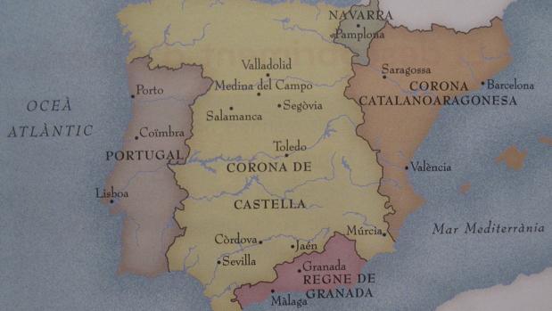Uno de los mapas en los que se emplea el término Corona Catalanoaragonesa