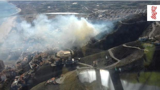 Imagen del incendio en Cullera